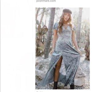 Life Clothing Co. velvet maxi dress